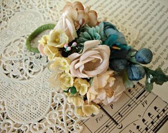 Antique Vintage Velvet Millinery Flowers Posy - #1