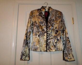 Vintage Light Jacket Top 100% Silk