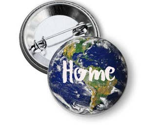 Planet Earth Pin Earth Button Climate Change Button World Button B50
