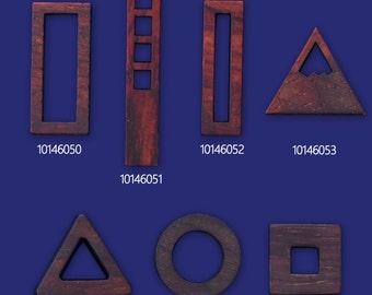 1 wood frame open back wooden pendant Resin Setting Blanks handmade 101460