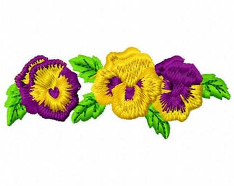 Pansy Embroidery Design - Instant Download