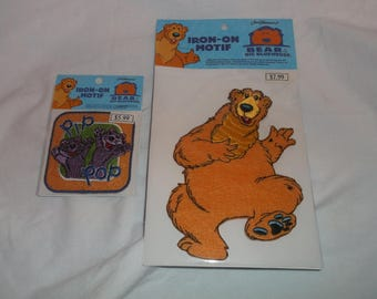 Jim Henson's Bear and The Big Blue House & Pip and Pop Iron On Motif Patch New