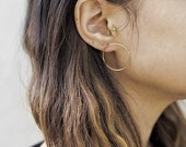 SALE ON SALE Gold fill Circle Hoops- gold Hoop Studs- gold Circle Studs- gold Hoop Earrings- gold Circle Studs