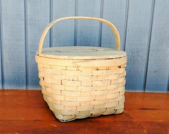 Antique Egg Basket - Wooden Egg Basket