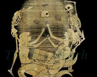 Davy Jones' Locker art print 12 x 12