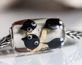 Small Core Artisan Bead Cat Kitty SRA Lampwork Beads BHB