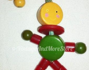 Vintage Tykie Toy Peepo The Clown Catalin Crib Bakelite Green Cherry Butterscotch