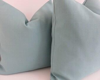 Outdoor/Indoor Aqua Pillow Covers- Solid aqua Pillows- Aqua Oudoor pillows- Solid Outdoor Pillows- Pillow Covers