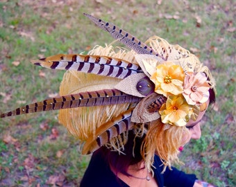 GOLDEN FAE Feather Headdress SALE