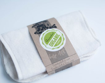 Organic Burp Pad made with  Organic Cotton French Terry Spit Up Pad