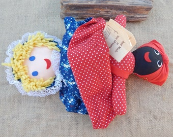 "An Original Gambina Doll  Dated 1975  ~  Gambina Reversible Doll #1654 ""Nanny & Nellie""  ~  Topsy Turvey Doll ~ Upside Down Doll Made in USA"