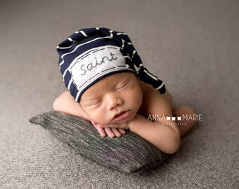 Personalized Baby Hat - personalized gifts- baby monogramed hat - Baby Boy Hat- newborn photo prop - baby hats -baby name hat