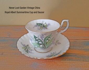 Tea Cup and Saucer Royal Albert Cheverell Vintage