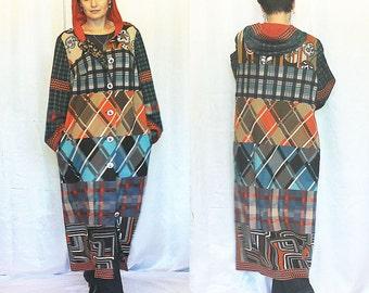 In stock Coat Patchwork Boho Bohemian Hippie Gypsy Patchwork Coat  Plus size