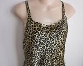Victoria's Secret nightgown long leopard X back sexy  lingerie M