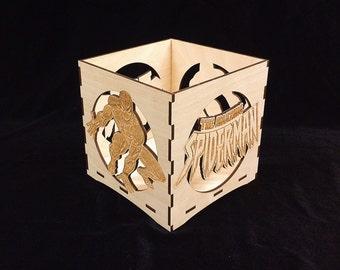 Spiderman Candle Holder-Unfinished Wooden Candle Lantern-engravable candle box-Superhero gift-Spiderman wooden candle lantern