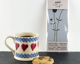 Scandi Flower Stencil - Stencil MiNiS from The Stencil Studio. Handy little reusable stencils for home decor and crafts and more!