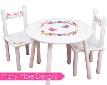 Beautiful Girls Table U0026 Chair Set Personalized Tea Party Table Chairs Kids Furniture  Childs Table Personalized Bedroom