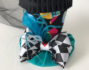 The Queen's Court - Mini Top Hat - Alice In Wonderland Hat - Tea Pot Top Hat - Mad Hatter Novelty Hat