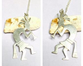 Vintage Silver Zuni Pendant, kokopelli dancer, native Design, Clearance Sale, Item No. S095