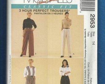 15% OFF SPRING SALE McCalls 2953 Pleated Pants & Shorts Plus Fitting Shell Fit Pants That Fit Your Body Size 14 Uncut