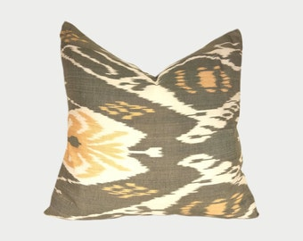 Ikat Pillow, Ikat Pillow Cover a533a, Ikat throw pillows, Designer pillows, Decorative pillows, Accent pillows