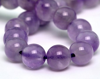"6MM Lavender Amethyst Beads Grade A Genuine Natural Gemstone Loose Beads 7.5"" BULK LOT 1,3,5,10 and 50 (100717h-309)"