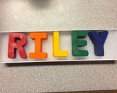 Custom Name Crayons - Name Crayons - Alphabet Crayons - Easter Basket gift -  Party Favors - Kids Party Favors -  Letter Crayon - ABC Crayon