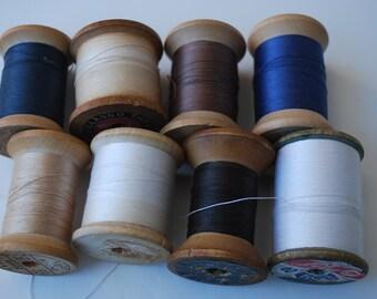 Vintage 8 Wood Spools