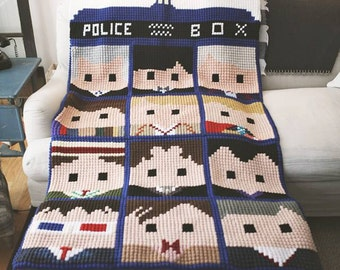 Doctor Who Faces of the Doctor crochet graphs *NOW includes the 13th Doctor*