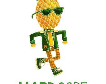Hardcore Pineapple -- pack of 5 postcards