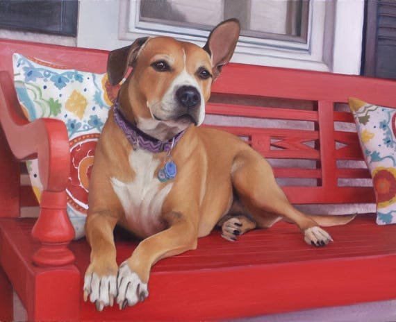 CUSTOM PET PORTRAIT - Oil Painting - Dog Portrait - Photo to Handmade Painting - Unique Gift