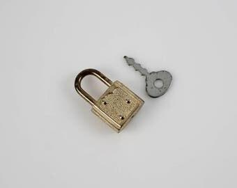 Small Vintage Lock and Key Set - Small Diary Lock - Lock and Key