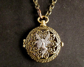 Fairy Pocket Watch Necklace
