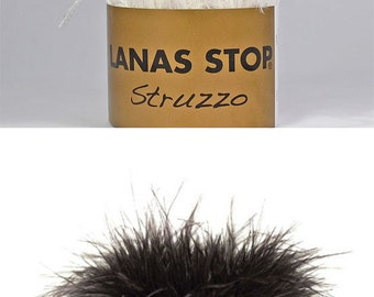 50% OFF STRUZZO by Lanas Stop / Ostrich Feather Yarn / 25 g / 2.5m / 2.73 yrs