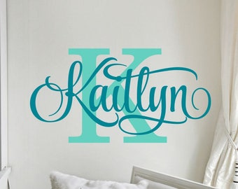 Girl Name Wall Decal Girls Name Decal Girl Name Decor Girl Bedroom Name Decal Wall Decal Wall Decor Girl Bedroom Decal Girl Name Wall Decor
