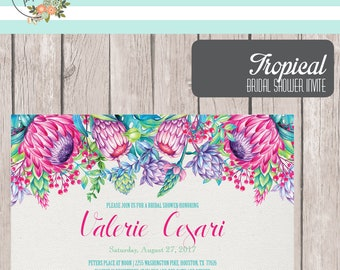 Printable Tropical Bridal Shower Invite