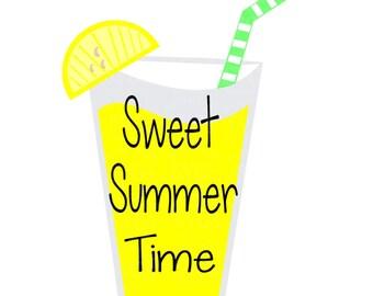 SVG - Sweet Summer Time - Summer SVG - Lemonade SVG - Lemonade Glass svg - Garden Flag svg - Summer Shirt svg - Summer Lemon - Tea Towel svg