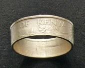1968 Kenya 5 Cent Coin RIng