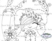 INSTANT DOWNLOAD Digital Digi Stamps Big Eye Big Head Dolls  New My Besties  Scan0001 6 Bunny By Sherri Baldy
