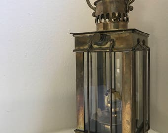 Antique Brass Ship Oil Lantern
