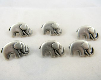 Metal Elephant Button 20mm x 14mm