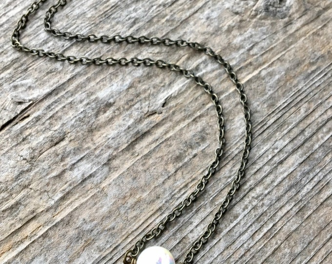 Flat Freshwater Pearl Necklace