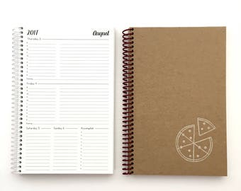 2017/2018 Weekly & Monthly Planner | SMALL | 12 Months | Agenda | Academic