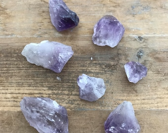 1 - LARGE Natural Amethyst Crystal Gemstone - No Hole - Jewelry Supplies (AL022)