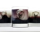 Scented Candle - Black Cherry - Marbled Wax - 11 oz