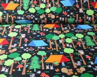 Cotton Fabric, sewing fabric, quilting, camping fabric