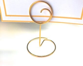 Table Number Holders, Wire Table Number Holders,Table Holders, Seating Card holders, Wire Wedding Place Holders, Set of 7, Wedding Reception