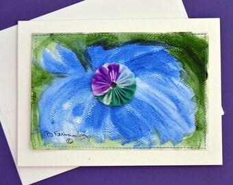 Blue YoYo Mixed Media Card