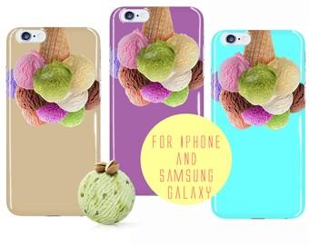 Ice Cream Samsung Galaxy s7 Edge Case Icecream iPhone 7 Plus Case iPhone 6 Case Icecream Samsung Galaxy s6 Food Pattern Galaxy s7 Case Color